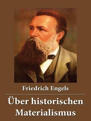 cover image of Über historischen Materialismus