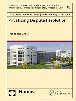 cover image of Privatizing Dispute Resolution