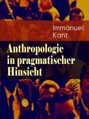 cover image of Anthropologie in pragmatischer Hinsicht