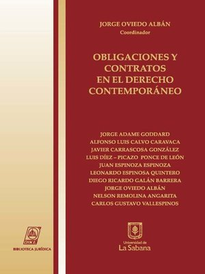 cover image of Obligaciones y contratos en el derecho contemporáneo