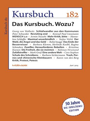 cover image of Kursbuch 182