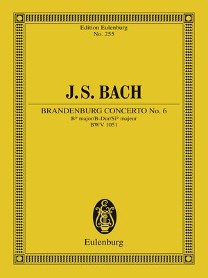 cover image of Brandenburg Concerto No. 6 Bb major