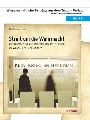 cover image of Streit um die Wehrmacht