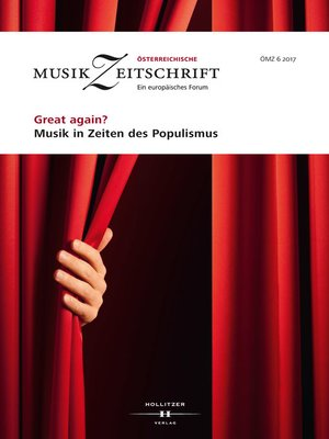 cover image of Great again? Musik in Zeiten des Populismus