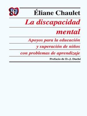 cover image of La discapacidad mental