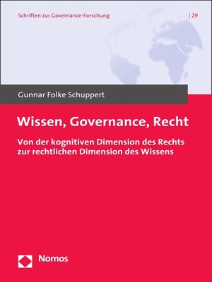 cover image of Wissen, Governance, Recht.