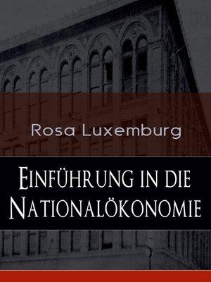 cover image of Einführung in die Nationalökonomie