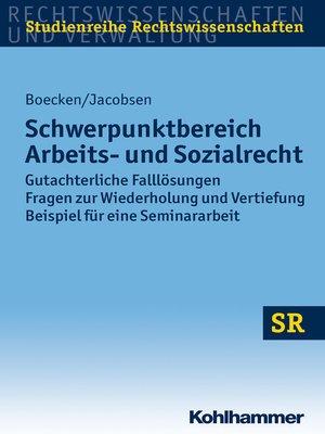 cover image of Schwerpunktbereich Arbeits- und Sozialrecht