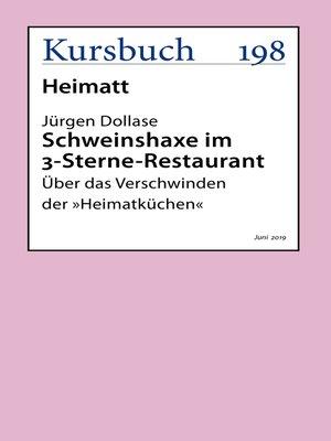 cover image of Schweinshaxe im 3-Sterne-Restaurant