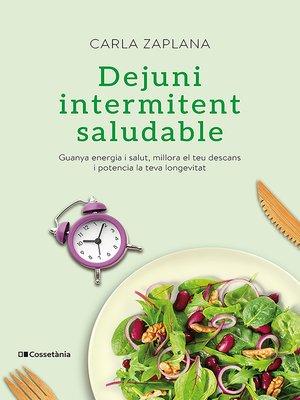 cover image of Dejuni intermitent saludable