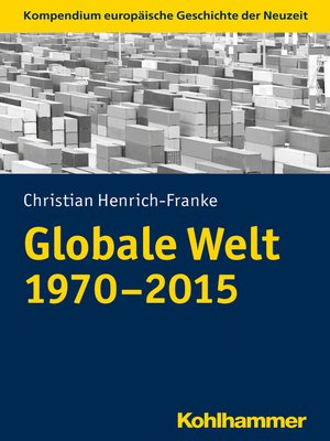 cover image of Globale Welt (1970-2015)