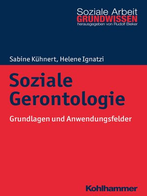 cover image of Soziale Gerontologie