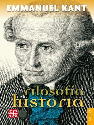 cover image of Filosofía de la historia