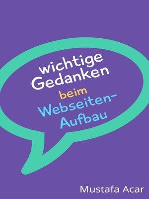 cover image of Wichtige Gedanken beim Webseiten-Aufbau