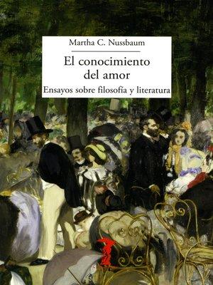 cover image of El conocimiento del amor