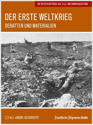 cover image of Der Erste Weltkrieg