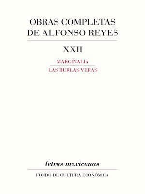 cover image of Obras completas, XXII
