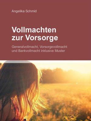 cover image of Vollmachten zur Vorsorge