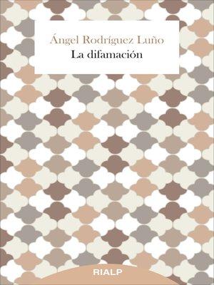 cover image of La difamación