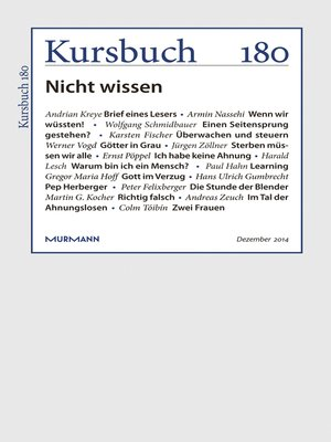 cover image of Kursbuch 180