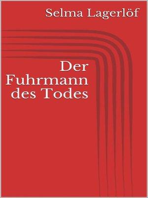 cover image of Der Fuhrmann des Todes