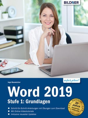cover image of Word 2019--Stufe 1