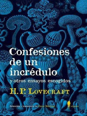 cover image of Confesiones de un incrédulo