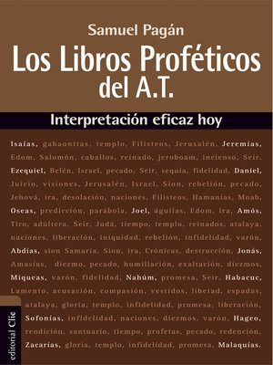 cover image of Libros proféticos del Antiguo Testamento