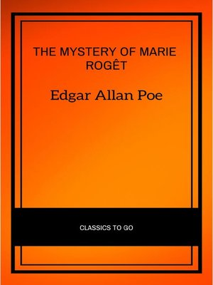 cover image of The Mystery of Marie Rogêt