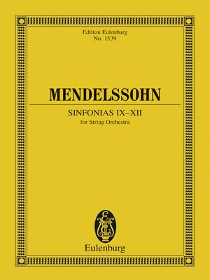 cover image of Sinfonias IX-XII