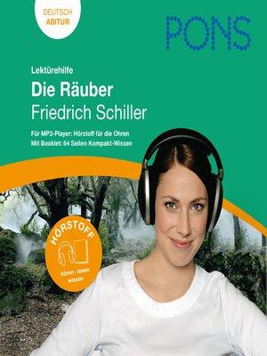 cover image of PONS Lektürehilfe--Friedrich Schiller, Die Räuber