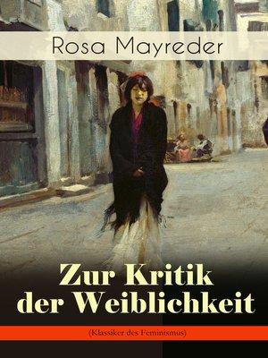 cover image of Zur Kritik der Weiblichkeit