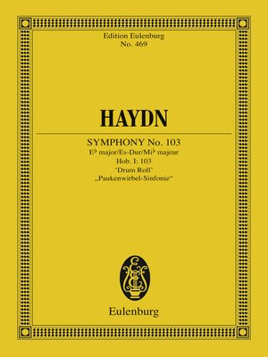 """cover image of Symphony No. 103 Eb major """"Drum Roll"""""""