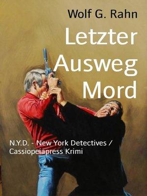 cover image of Letzter Ausweg Mord