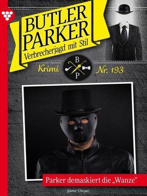cover image of Butler Parker 193 – Kriminalroman