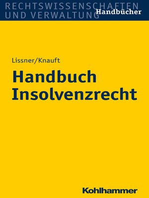 cover image of Handbuch Insolvenzrecht