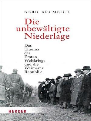 cover image of Die unbewältigte Niederlage