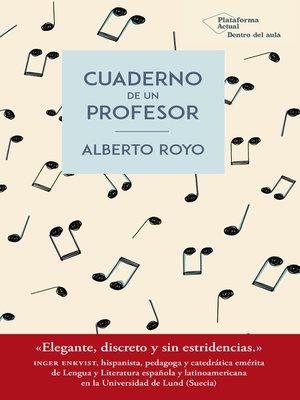 cover image of Cuaderno de un profesor