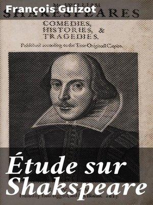 cover image of Étude sur Shakspeare