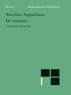 cover image of De trinitate (Bücher VIII-XI, XIV-XV, Anhang