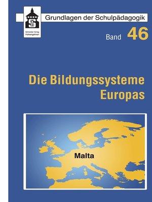 cover image of Die Bildungssysteme Europas--Malta
