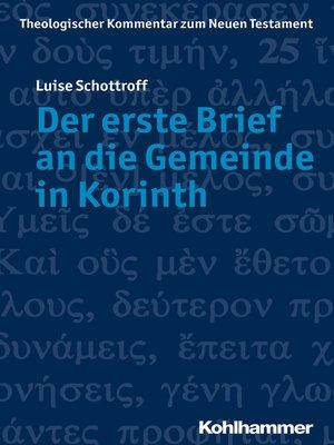 cover image of Der erste Brief an die Gemeinde in Korinth