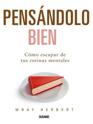 cover image of Pensándolo bien