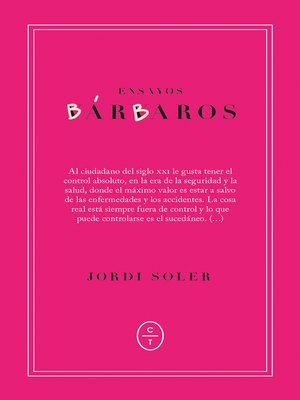 cover image of Ensayos bárbaros