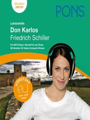 cover image of PONS Lektürehilfe--Friedrich Schiller, Don Karlos
