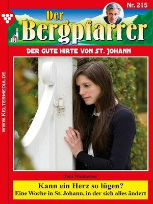 cover image of Der Bergpfarrer 215 – Heimatroman