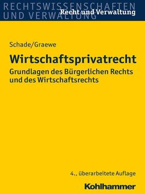 cover image of Wirtschaftsprivatrecht