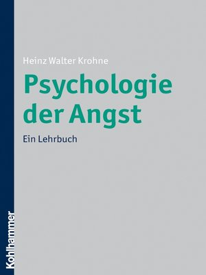 cover image of Psychologie der Angst