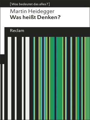 cover image of Was heißt Denken?