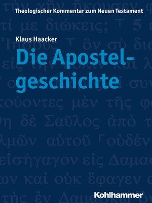 cover image of Die Apostelgeschichte